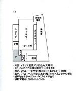 協同組合タッケン美術展示館(青森市民美術展示館) 1階平面図