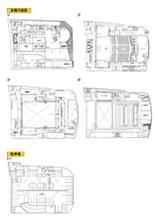 リンクモア平安閣市民ホール 各階平面図(626KB)